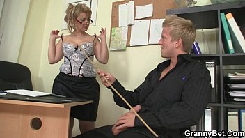 office bitch booloo swallows his big rod