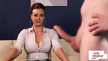bangali xxx busty cfnm office cougar gives joi to sub guy