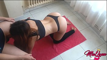 sexy fit wwwxvideos com stepsister caught doing yoga gets fucked and creampied