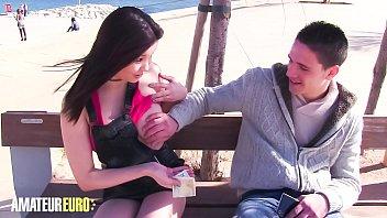 amateur euro - busty asian miyuki son pick up random guy nude teen breasts and fucks with him on cam