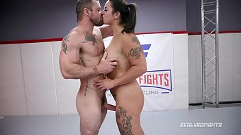 miss xxx prone demeanor vs sgt miles in mixed nude wrestling fight c. on his cock