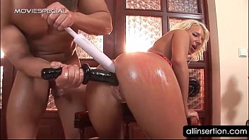naked young women oily blonde hoe gets ass filled with a mobile phone