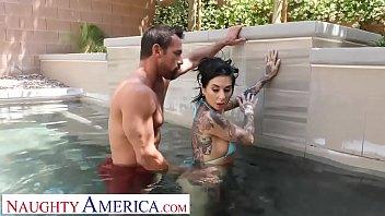 naughty america - kassandra kelly joanna nurse sex angel fucks trainer when hubby ignores her