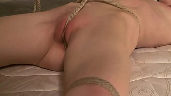 tied up sub gagged and and girl sex suspended by her master