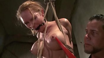 hogtied sub gets pussy clamped porno cubano during this hot bdsm session