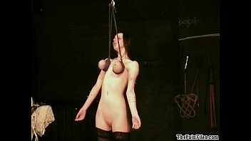 boobs touching piercing fetish and extreme bdsm of enslaved emily x in hardcore bondage