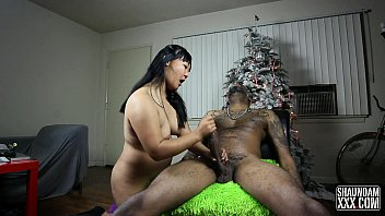 cum faced big butt naked christmas slut