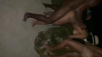 orgy xxxxxxxxxxxxx in the stone of nudist beach. fucking with several guys