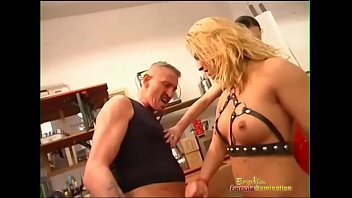 sexy gril dominatrix is rough with her trainees