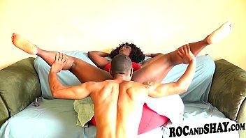hot ebony couple fucks poen video at home