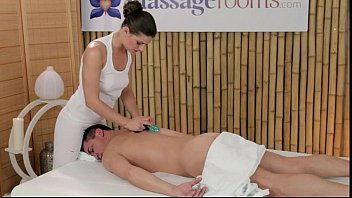 masseuse rubs ladies nanga photo dick with tits and feet on massage table