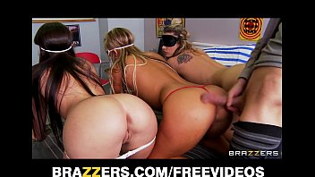 three big booty teens naked russian girls are blindfolded and fucked in an orgy