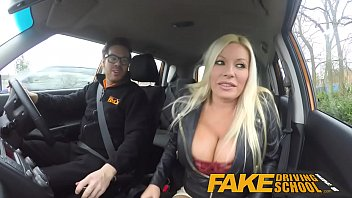 fake driving school squirting orgasm hot group sex busty milf takes creampie after lesson