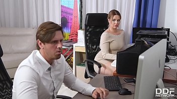 cock sucking at the office gives busty nikky sanny leaun bf dream chills of pleasure