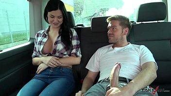 ryan ryder convince young sexvides innocet sweet jasmine jae to fuck in driving van