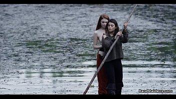 xxx mp4 2016 lesbian adventures on wooden raft brea daniels and raven
