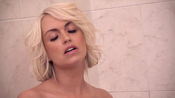 lena love xxxporn vedios is showering - fingering her tight pussy.