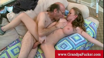 hot boobs and pussy madison scott loves her new old man cock