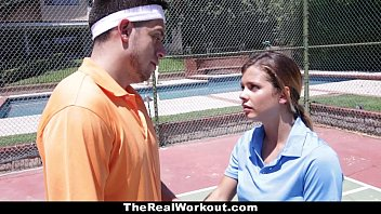 therealworkout sunny leone bp - keisha grey pounded after playing tennis