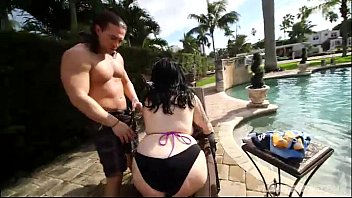 sexy plump marilyn mayson anushkaxxx gets oiled and fucked by pool