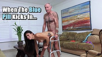 blue pill men - michelle martinez fucked by geriatric stud who big fuck s still slinging dick in his old age