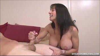 brunette americasex com milf topless handjob