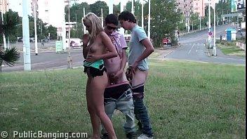 young blonde asa akira gif teen cutie public street sex gang bang threesome with 2 guys