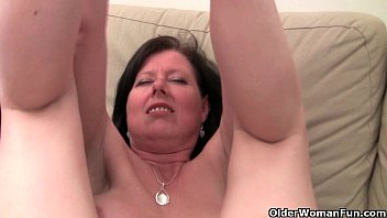 british mom julie with her big tits and hairy pussy doraemon sex gets finger fucked