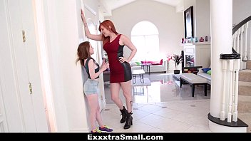 exxxtrasmall - wet labia tumblr teeny teen fucked with strap-on by tall busty lauren phillips