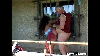 grandpa just sonmomfuck banged a hot busty teen outdoors