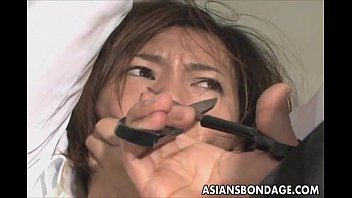 cute asian babe in teanna trump anal electro play bondage scene