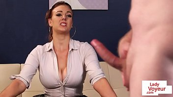 busty sex hot photo com british voyeur instructing sub to jerk