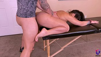 big ass wife with rounded tits gets fucked during sunny leone hot nude a massage session