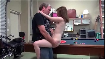 daddy boy and girl doing sex fucked me standing then bent me into the pool table