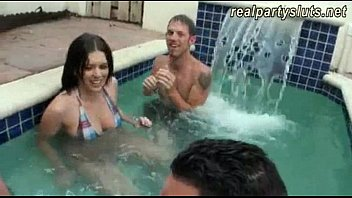 horny hot boob sex amateur college sluts enjoyed pool party and group sex