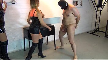 xxx o ballbusted by two british models