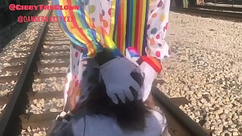 clown www wold sex com almost gets hit by train while getting head