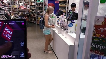 remote sexvideo88 vibrator in large mall - lot of fun with letty black