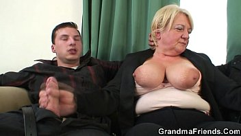 threesome sanilion xxx vido orgy with granny