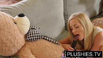 blonde model sicilia and kira queen sex with teddy xcxn bear part 1