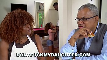 don t fuck my daughter - black teen kendall yogasex woods fucks her father s friend jax slayher
