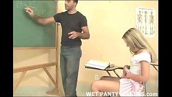 hot teacher makes pussy licking gif this schoolgirls panties wet