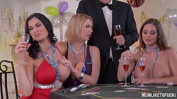 sexxx milfs cathy heaven and leigh darby and jasmine jae cum during new year s orgy