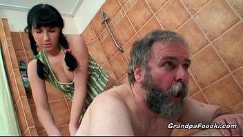 sexy babe pink sparkles nudes gets nasty with horny grandpa