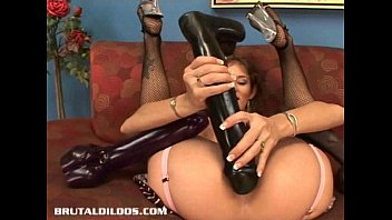 dee williams making assmends busty babe felony fills her pussy with a monster dildo