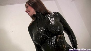 greased and oiled mindi mink porndriods wet and messy