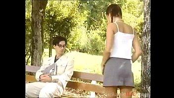 topless teen teen seduce older guy in park