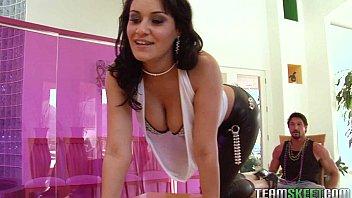 tittyattack big tits xxxc brunette babe charley chase strip tease fucked hardcore