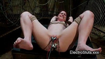 strapped wired redhead seks vidio femdom electro shocked