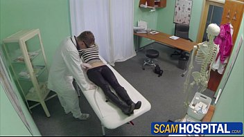 gorgeous blonde uma gets xxxvdo fucked hard by the doctor in the examining table